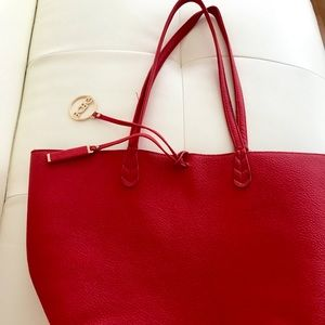 Red BCBG tote